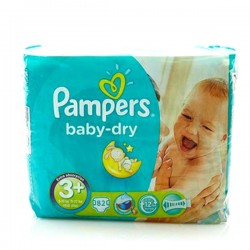 Baby Dry - 82 Couches Pampers taille 3+
