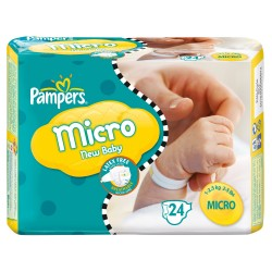 New Baby Micro - 24 Couches de Pampers taille 0 sur Couches Poupon