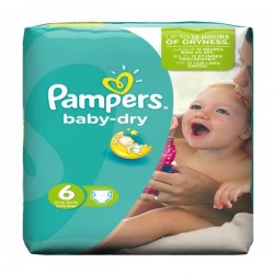 31 Couches Pampers Baby Dry taille 6 sur Couches Poupon