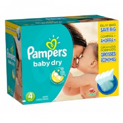 Baby Dry - 264 Couches Pampers taille 4 sur Couches Poupon