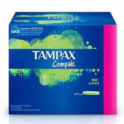 Compak - 80 Tampons Tampax taille super avec applicateur sur Couches Poupon