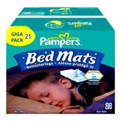 21 Alèses de lits Pampers taille 90X80cm sur Couches Poupon
