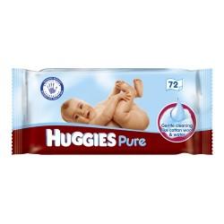 Pure - 72 Lingettes Bébés d'Huggies sur Couches Poupon