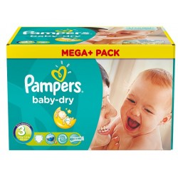 Baby Dry - 272 Couches de Pampers taille 3