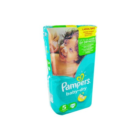 54 Couches Pampers Baby Dry Taille 5 Pas Cher Sur Couches Poupon