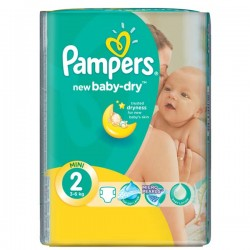 Couches Pampers New Baby Dry Taille 2 Sur Couches Poupon