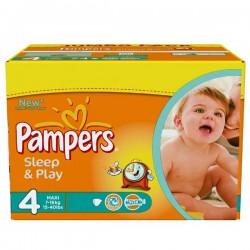 Sleep & Play - 86 Couches Pampers taille 4 sur Couches Poupon