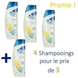 Antipelliculaire Citrus Fresh - 4 Shampooings Head & Shoulders - 4 au prix de 3 sur Couches Poupon