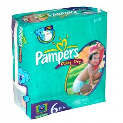 Baby Dry - 33 Couches de Pampers taille 6