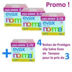 Salva Evax - 560 Protèges-Slips Tampax - 4 au prix de 3 sur Couches Poupon
