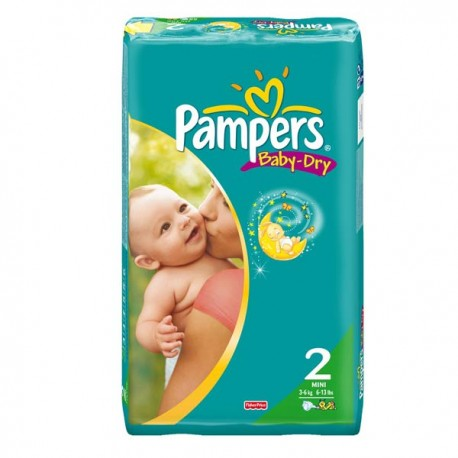 44 Couches Pampers Baby Dry Taille 2 En Promotion Sur Couches Poupon