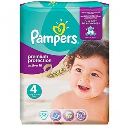 Active Fit - 52 Couches Pampers taille 4 sur Couches Poupon
