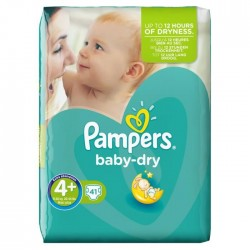 Baby Dry - 41 Couches de Pampers taille 4+ sur Couches Poupon
