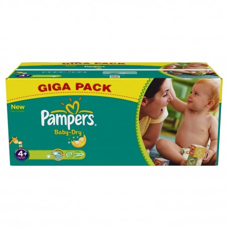 336 Couches Pampers Baby Dry Taille 4 A Bas Prix Sur Couches Poupon