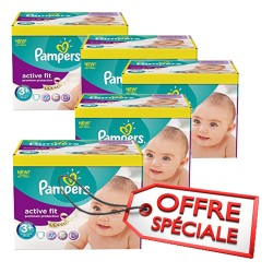 Active Fit - 560 Couches Pampers taille 3+