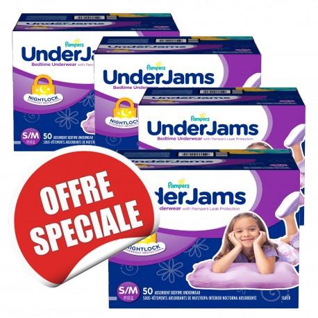 Underjams - 315 Sous-vêtements jetables Pampers - pour Filles taille S/M sur Couches Poupon