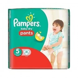Baby Dry Pants - 21 Couches Pampers taille 5