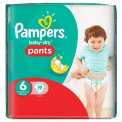 Baby Dry Pants - 19 Couches Pampers taille 6