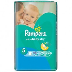 Active Baby Dry - 58 Couches de Pampers taille 5 sur Couches Poupon