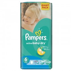 Active Baby Dry - 42 Couches Pampers taille 6
