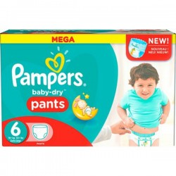 Baby Dry Pants - 190 Couches Pampers taille 6