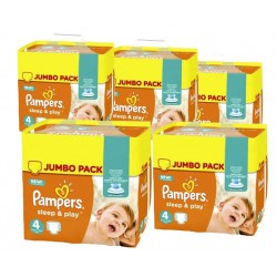 Sleep & Play - 14 Couches Pampers taille 4 sur Couches Poupon