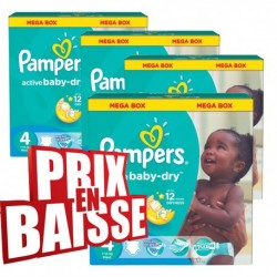 Active Baby Dry - 290 Couches Pampers taille 4