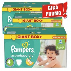 Active Baby Dry - 696 Couches de Pampers taille 4