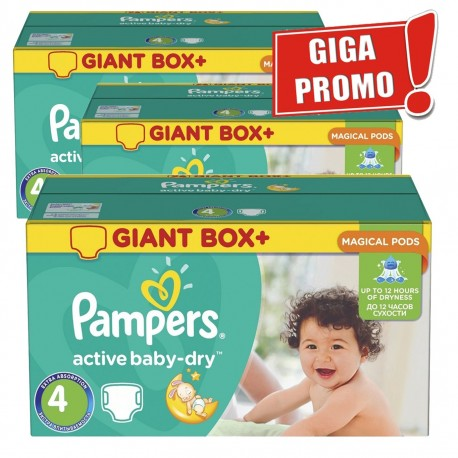 Active Baby Dry - 696 Couches de Pampers taille 4 sur Couches Poupon