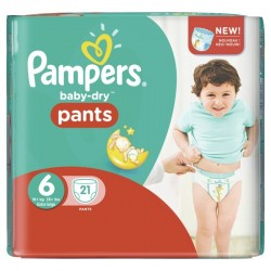 Baby Dry Pants - 21 Couches Pampers 6