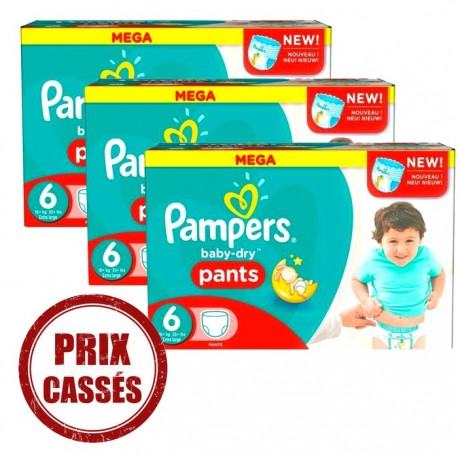 Baby Dry Pants - 105 Couches Pampers 6 sur Couches Poupon