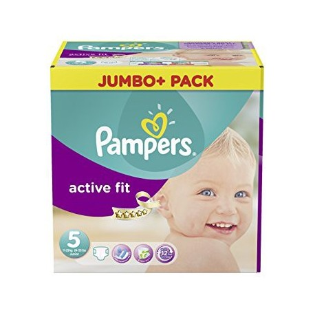 220 Couches Pampers Active Fit Taille 5 Moins Cher Sur Couches Poupon