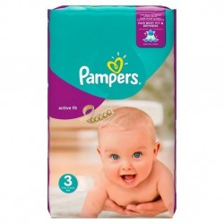 Active Fit - 62 Couches Pampers taille 3