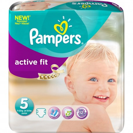 Active Fit - 92 Couches Pampers taille 5 sur Couches Poupon