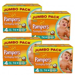 Simply Dry - 294 Couches Pampers 4 sur Couches Poupon