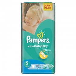 Active Baby Dry - 42 Couches Pampers taille 5 sur Couches Poupon