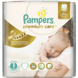 41 Couches Pampers Premium Care taille 1