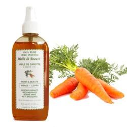 Huile de beauté à la Carotte 100% pure végétales sur Couches Poupon