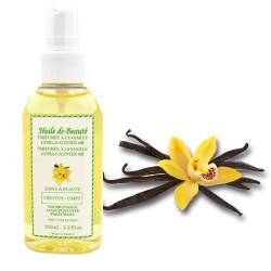 Huile de beauté à la vanille 100% pure et végétale sur Couches Poupon