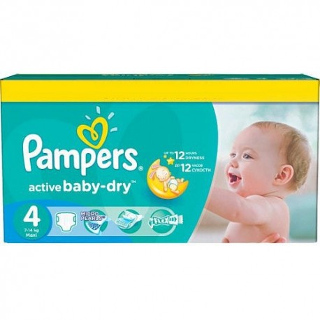 132 Couches Pampers Active Baby Dry Taille 4 A Bas Prix Sur Couches