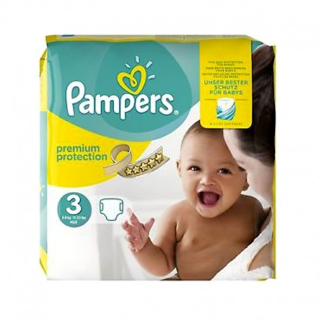 Pampers - Pack 80 Couches Premium Protection - New Baby taille 3 sur Couches Poupon