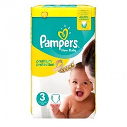 Pampers - Pack 29 Couches Premium Protection - New Baby taille 3 sur Couches Poupon