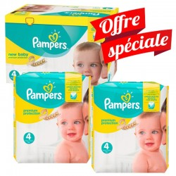 Pampers - Maxi Giga Pack 672 Couches Premium Protection - New Baby taille 4 sur Couches Poupon