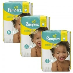 Pampers - Mega Pack 204 Couches Premium Protection - New Baby taille 5 sur Couches Poupon