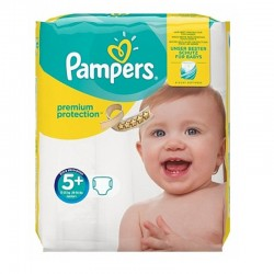 Pampers - Pack 32 Couches Premium Protection - New Baby taille 5+ sur Couches Poupon
