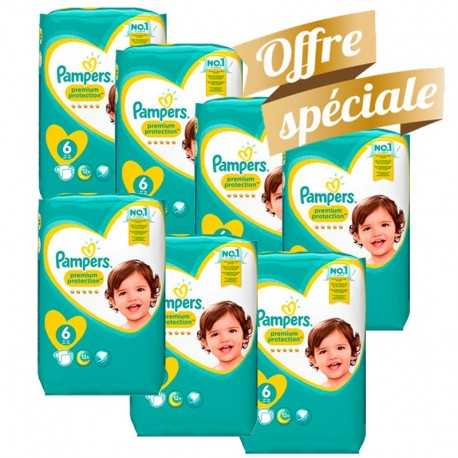 Pampers - Giga Pack 155 Couches Premium Protection - New Baby taille 6 sur Couches Poupon