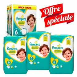 Pampers - Mega Pack 217 Couches Premium Protection - New Baby taille 6