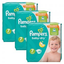Pampers - Mega Pack 84 Couches Baby Dry taille 7 sur Couches Poupon