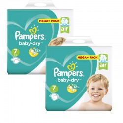 Pampers - Giga Pack 112 Couches Baby Dry taille 7 sur Couches Poupon