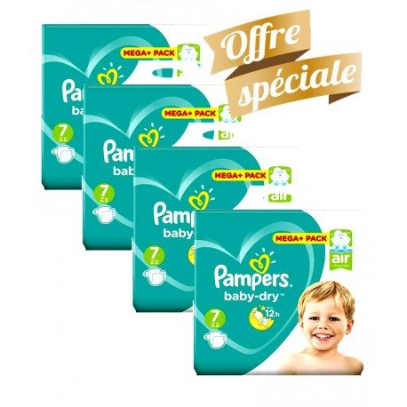 Pampers - Maxi Giga Pack 308 Couches Baby Dry taille 7 sur Couches Poupon